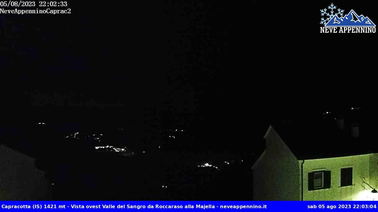 Webcam Panorama Valle del Sangro da Roccaraso alla Maiella