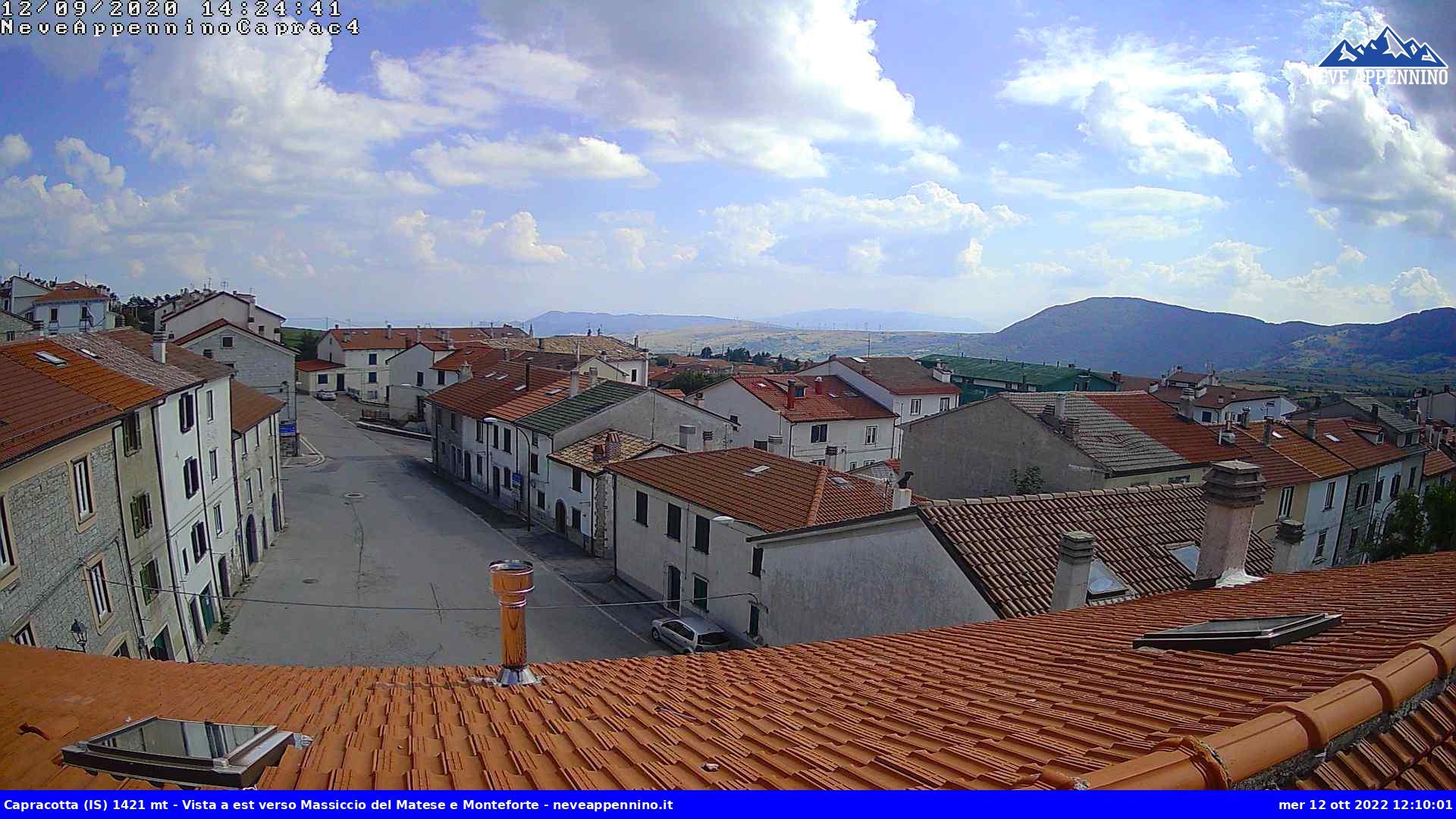 webcam comune di Capracotta, Molise Italy