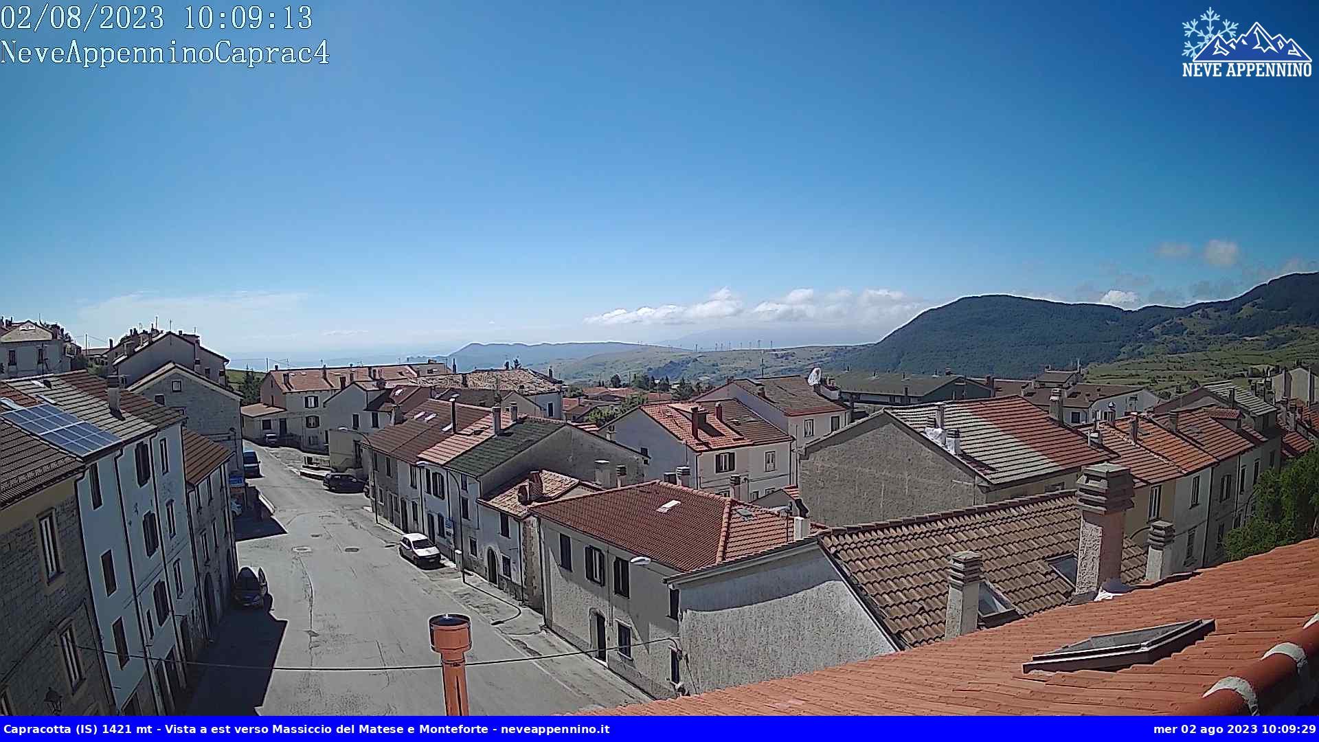 webcam comune di Capracotta (IS) 1421 m.s.l.m., Molise Italy