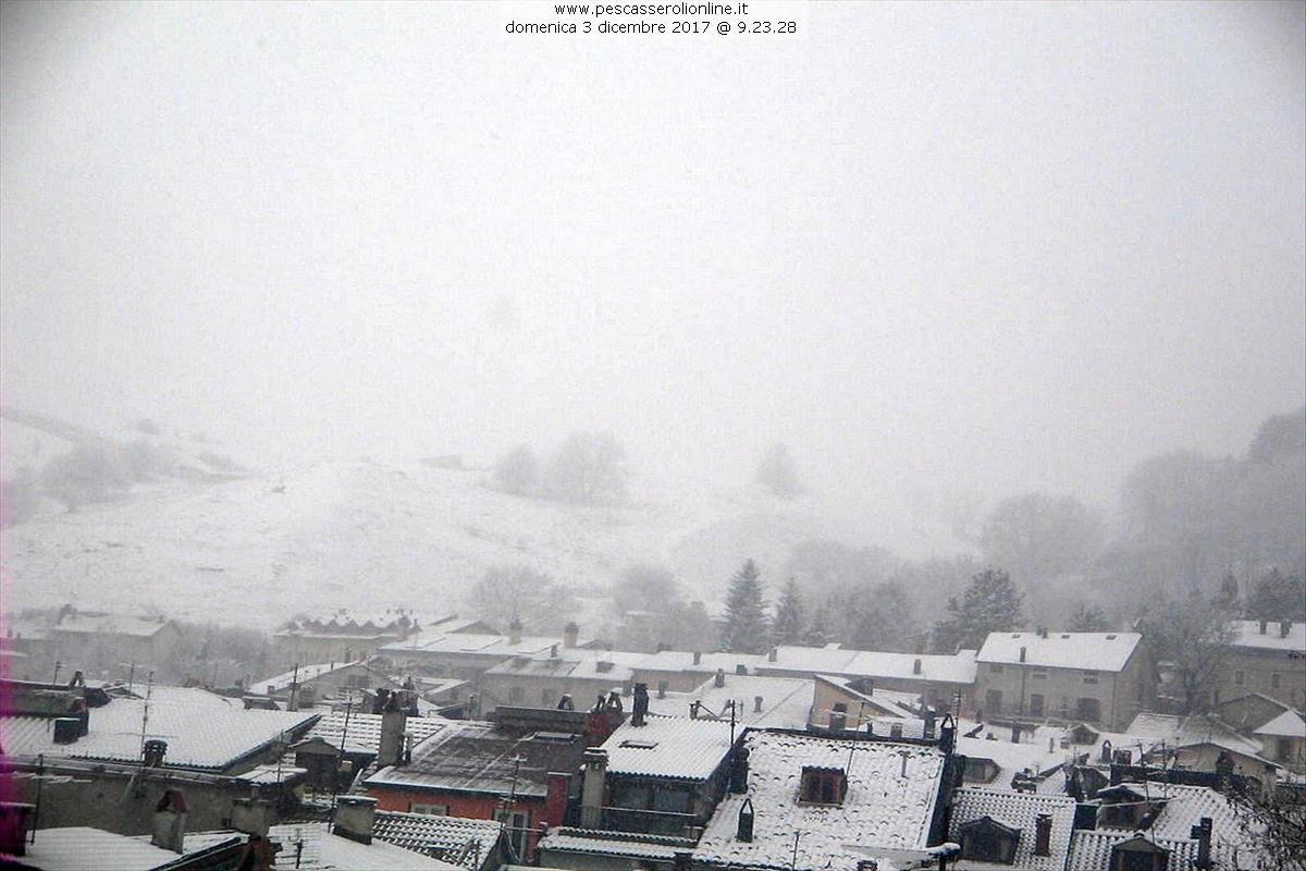 In queste ore il calo significativo delle temperature sta riportando la neve  sui monti laziali a716a5430754