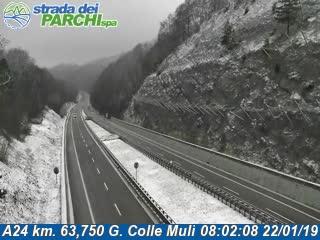 3e3b756252 Situazione autostrade: neve su tratte di A24, A25 e A14
