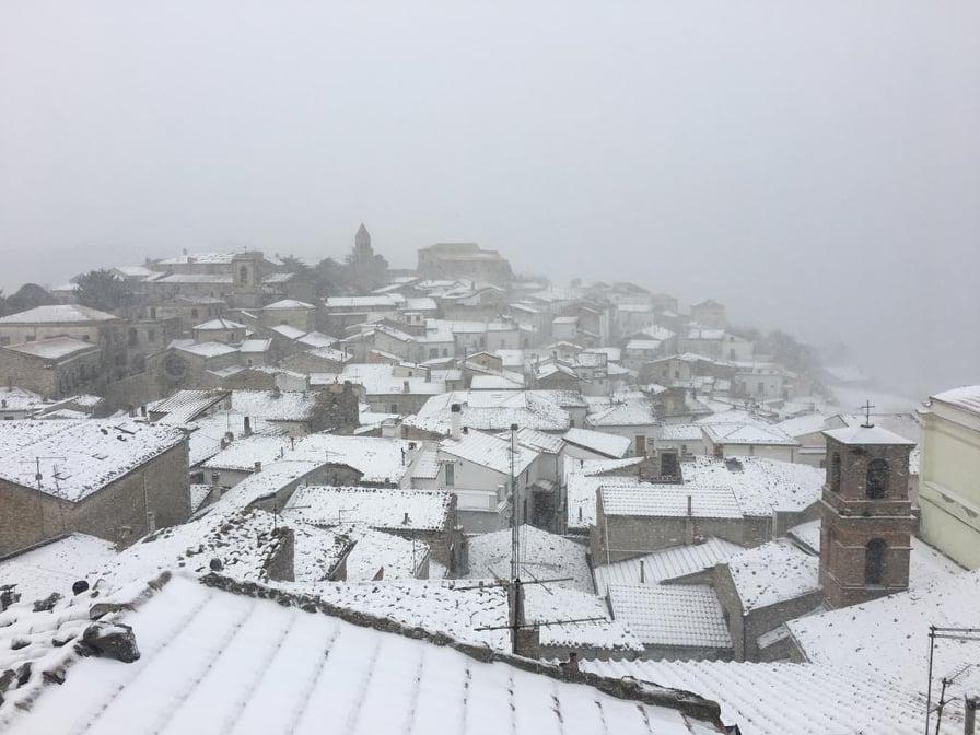 Neve su Gargano e Monti Dauni