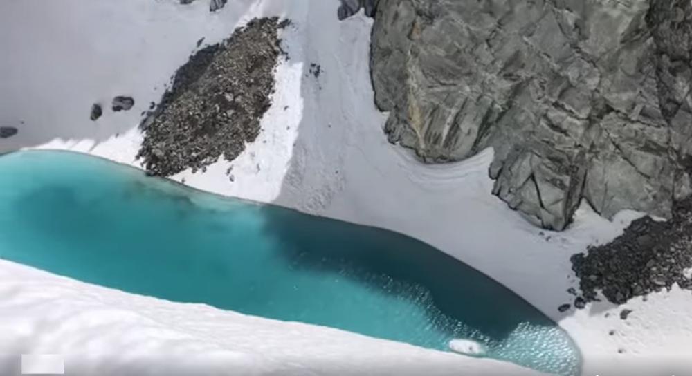 Caldo eccessivo ai piedi del Monte Bianco spunta un lago