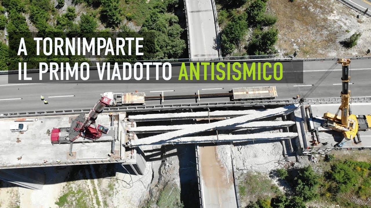 Strada dei Parchi lavori in corso sul viadotto di Tornimparte