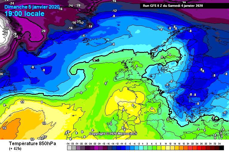 L'irruzione di aria fredda in arrivo nelle prossime ore