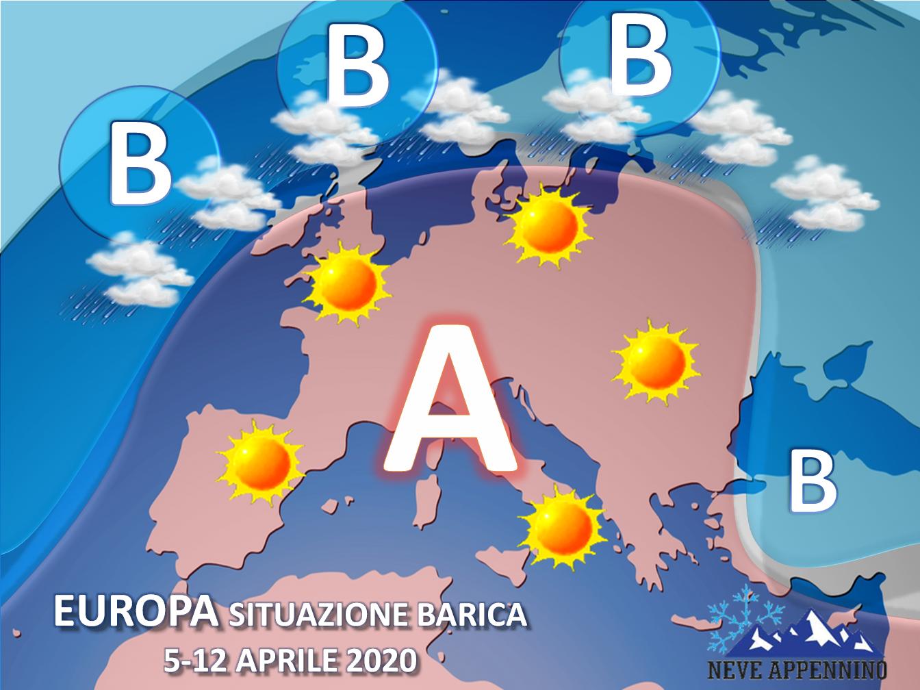 Si consolida l'alta pressione, sboccia la Primavera sull'Italia