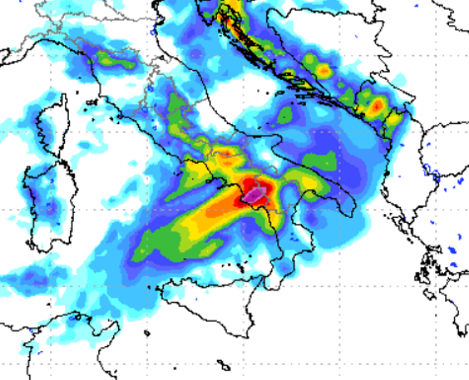 Le piogge in arrivo al Centro Sud tra giovedì e venewdì