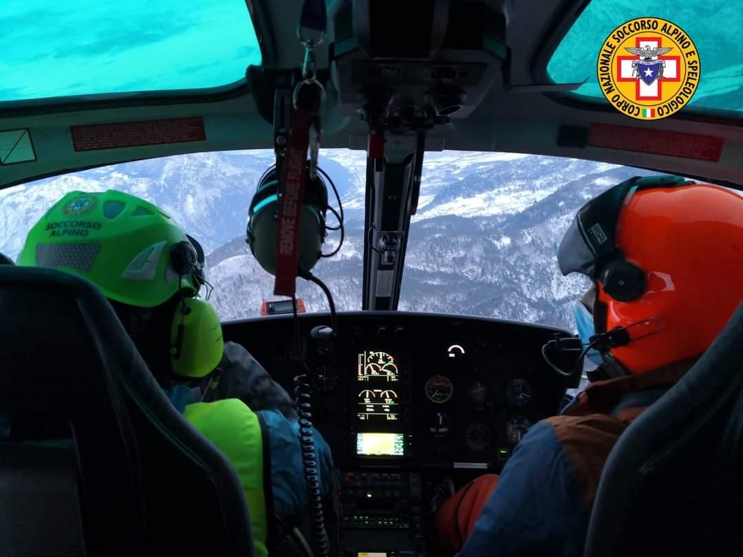 Monte Musi: il soccorso Alpino è in viaggio per raggiungere due escursionisti bloccati. Foto di repertorio